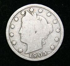 1905  US  Liberty Head ( V ) nickel in  circulated  condition    Free Shipping