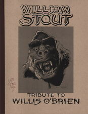 SIGNED William Stout Willis O'Brien Tribute Art Sketch Book King Kong Dinosaurs