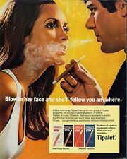 VINTAGE TIPALET BLOW CIGARETTE SMOKING AD 8X10 ART PRINT 1344