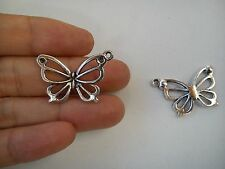 20 butterfly pendant charm tibetan silver antique style wholesale craft
