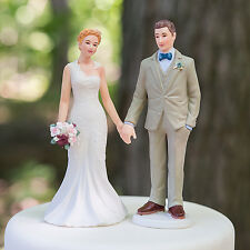 Woodland Bride And Groom Romantic Couple Wedding Cake Topper
