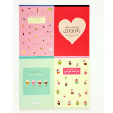 48sheets Cute girls Drawing yumyum Letter Lined Writing Stationery Paper Pad