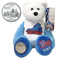 Limited Treasures Coin Bear Virginia 10th State New with Tags NWT