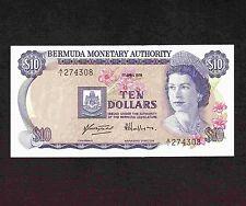 Bermuda, 10 Dollars 1978, P-30a, XF-AU * Queen Elizabeth *