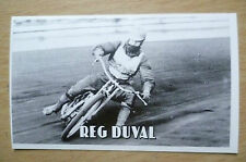Speedway History Cards- REG DUVAL (Liverpool & England), No.9