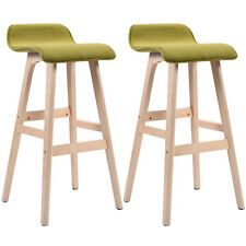 Set of 2 29-Inch Vintage Wood Bar Stool Dining Chair Counter Height Kitchen Bar