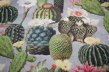 Dekostoff   0,50 x 1,40 Digitaldruck Kaktus