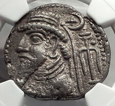 Kingdom of Elymais - Kamnaskires V 54BC Billon Tetradrachm Greek Coin NGC i59851