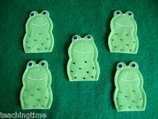 5 Five speckled frogs finger puppet set with song words