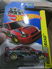 Hot Wheels Red Off-Road Subaru Impreza WRX (Gold Rims), 1:64 Scale