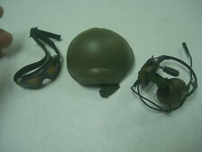 1/6 Scale hot toys British SAS Afghanistan Tanker Helmet+Crewgard Headset+Goggle