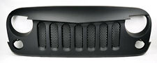Jeep Wrangler 07-15 Angry Bird Style Mesh Matte Black Front Hood Bumper Grill
