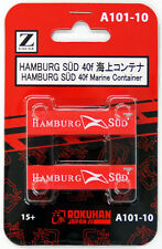 Rokuhan A101-10 Z Scale HAMBURG SUD 40f Marine Container 2 pcs.