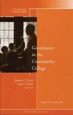 Governance in the Community College: New Directions for Community Colleges, Numb