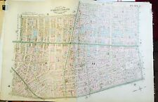 1885 ROBINSON REPRODUCTION ATLAS MAP SOHO LITTLE ITALY MANHATTAN NEW YORK CITY