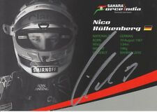NICO HULKENBERG HAND SIGNED 6X4 FORCE INDIA PROMO CARD F1 AUTOGRAPH.