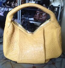 Alexander Wang Yellow Leather Studded Morgan Handbag / Bag / Hobo / Large