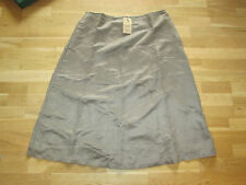 cotton traders suedette skirt size 10 brand new with tags part lined soft brown