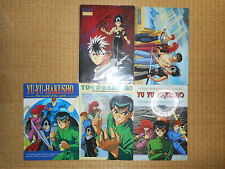 Yu Yu Hakusho B5 Plastic Sheet 5pcs VTG Official Japan k#13456