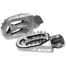 Apico Foot Pegs PRO-BITE HONDA CRF150 CR125 CR250 CRF250R CRF250X Footrests GREY