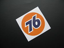 UNION 76 Race Car  sticker/decal x2