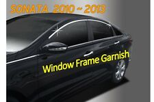 Chrome Door Window Glass Frame Molding Cover C108 for Hyundai SONATA 2010 ~ 2013
