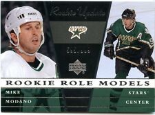 2002-03 UD Rookie Update Mike Modano Rookie Role Models 595/999 Dallas Stars