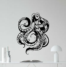 Octopus Wall Decal Tentacles Vinyl Sticker Bathroom Decor Poster Mural 189hor