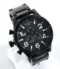 Nixon 51-30 Chrono Simplify Mens All Black Stainless Steel 300m Date 51mm Watch