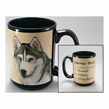 Siberian Husky Faithful Friends Dog Breed 15oz Coffee Mug Cup