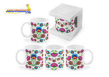 COFFEE TEA MUG - ETHNO - FOLK DESIGN FLOWERS BIRTHDAY CHRISTMAS GIFT - 300ml