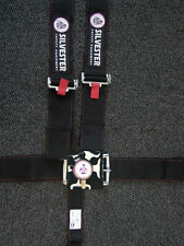 BLACK CAMLOCK CAM LOCK 5 POINT RACING HARNESS SEAT BELT SFI CAMS DRAG SPRINT