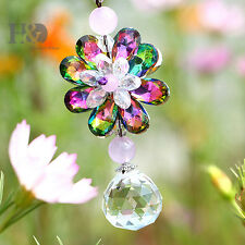 Colorful Suncatcher Prisms FengShui Crystal Ball Car Pendant Window Hanging Gift