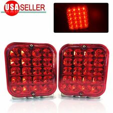 "2X 4.5"" 12V TRAILER TRUCK LED TAIL LIGHT TURN SIGNAL KIT BRAKE UTILITY RV BOAT"