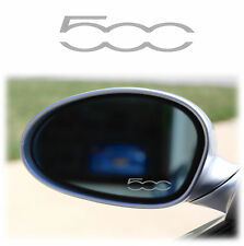 FIAT 500 WING MIRROR - ETCHED GLASS CAR VINYL DECALS-STICKERS x4 ABARTH XL L