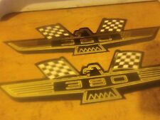 FORD 390 EAGLE BIRD EMBLEM LOGO VALVE COVER DECALS SET PAIR NEW VINTAGE GALAXIE