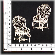 Chipboard Embellishments for Scrapbooking, Cardmaking - Wicker Chairs 11169w