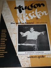1951 TUCSON VISITORS GUIDE CELESTIAL CHORISTER SPORTS MOVIES CLUBS