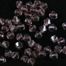100Pieces Swarovski 4mm Bicone Crystal beads E purple