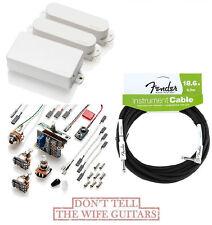 EMG SA / SA / 81 WHITE HSS STRAT PICKUP SET ( FENDER 18FT CABLE ) STRATOCASTER