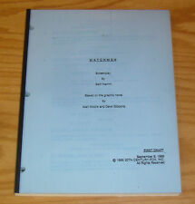 Watchmen Screenplay from 1988 unfilmed movie script - sam hamm - alan moore RARE