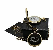 BOXSTER S 24k GOLD Clad Pocket Watch Full Hunter Case in Luxury Gift Box SPORT