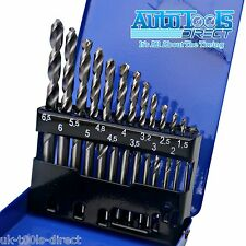13pc Engineering Drill Bit Set Hss 1.5-6.5mm 135 Deg Split Point Ground 6542 Hss
