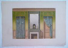 ANCIENNE CHROMO 1880 / MODELES DE TENTURES / STYLE RENAISSANCE / PL2