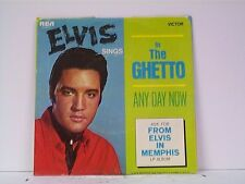 "ELVIS PRESLEY ""IN THE GHETTO / ANY DAY NOW"" 45w/PS NEAR MINT"