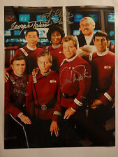 STAR TREK cast SIGNED by 4! AUTOGRAPHED 11x14 photo Shatner Takei Koenig Nichols