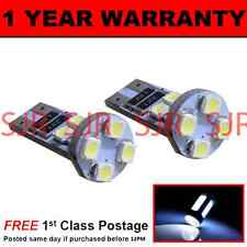 W5W T10 501 CANBUS ERROR FREE WHITE 8 LED NUMBER PLATE LIGHT BULBS X2 NP101601
