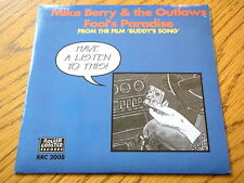"MIKE BERRY & THE OUTLAWS - FOOL'S PARADISE  7"" VINYL PS"
