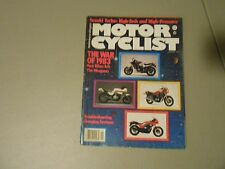 JANUARY 1983 MOTORCYCLIST MAGAZINE,SUZUKI TURBO,1983 NEW WEAPONS,CAN-AM 310 TRIA