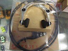 ODYSSEY SPRINGFIELD POLISHED-BLACK BMX BICYCLE U-BRAKE LEVER AND CABLE KIT